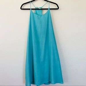 Beautiful turquoise strappy summer dress